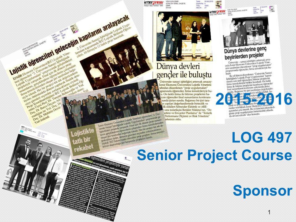 2015-2016 LOG 497 Senior Project Course Sponsor