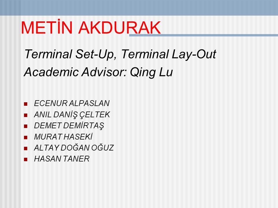 METİN AKDURAK Terminal Set-Up, Terminal Lay-Out