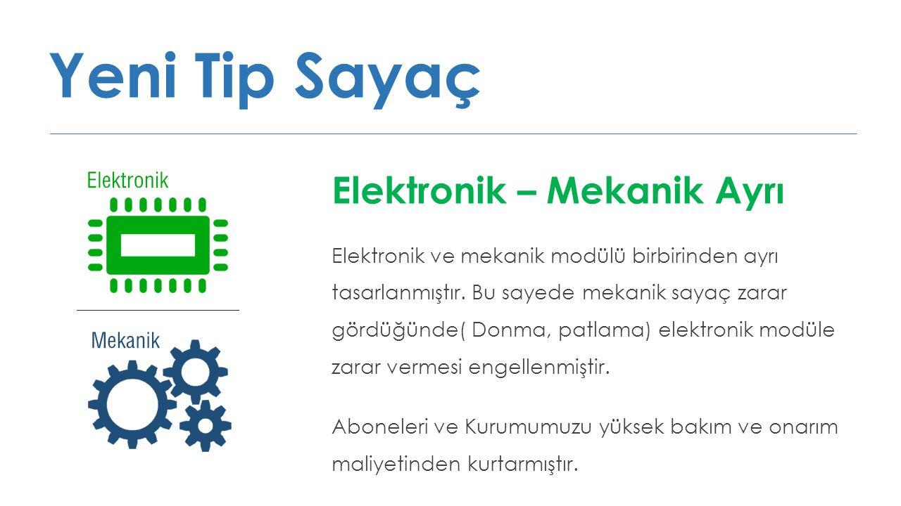 Yeni Tip Sayaç Elektronik – Mekanik Ayrı