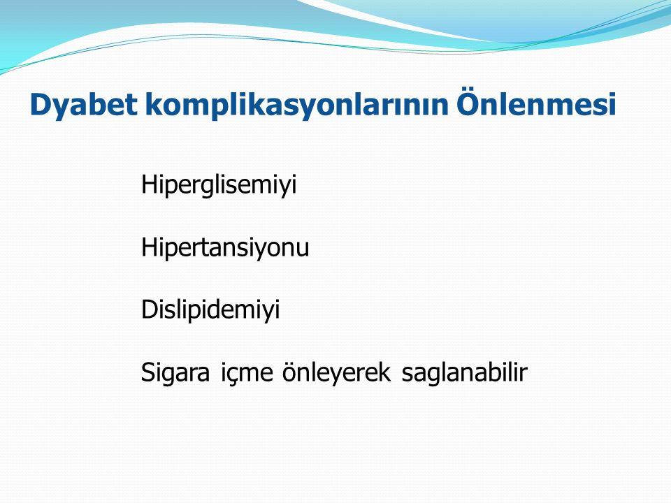Dyabet komplikasyonlarının Önlenmesi
