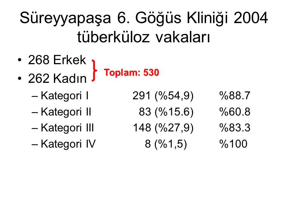Süreyyapaşa 6. Göğüs Kliniği 2004 tüberküloz vakaları