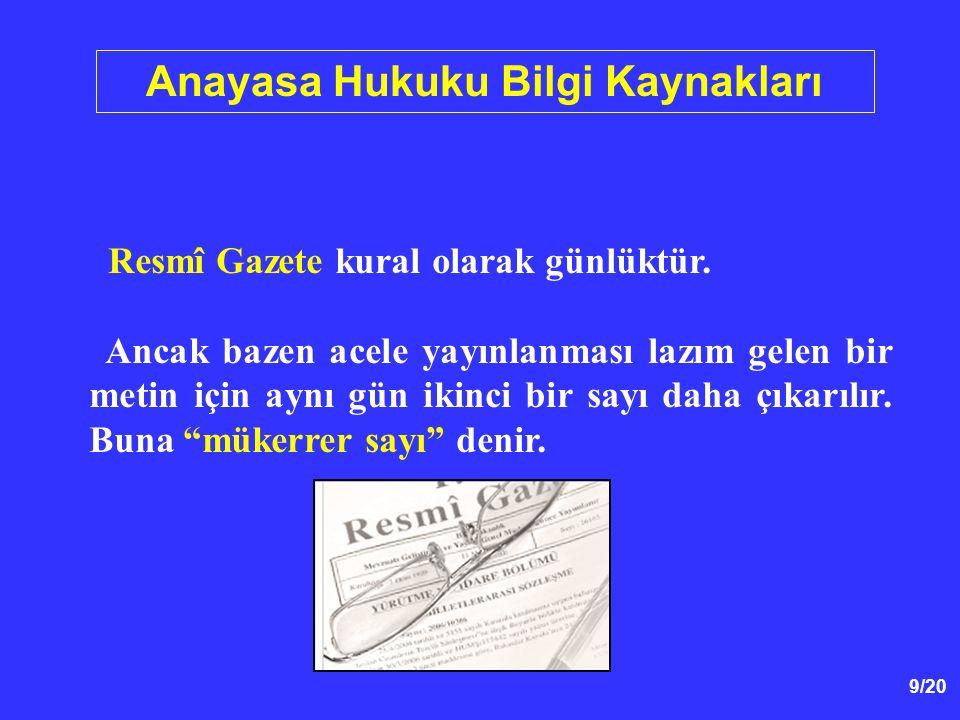 Anayasa Hukuku Bilgi Kaynakları