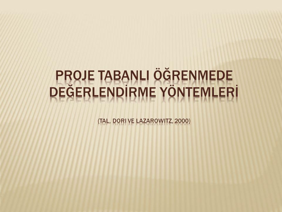 Proje TabanlI Öğrenmede Değerlendİrme Yöntemlerİ (Tal, Dori ve Lazarowitz, 2000)
