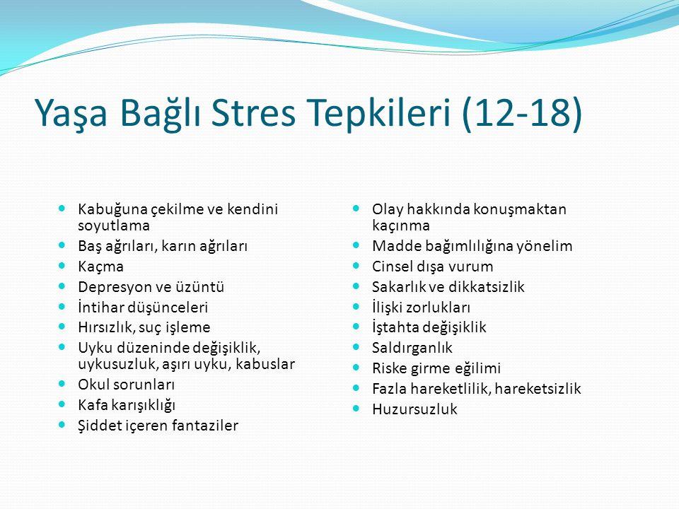 Yaşa Bağlı Stres Tepkileri (12-18)