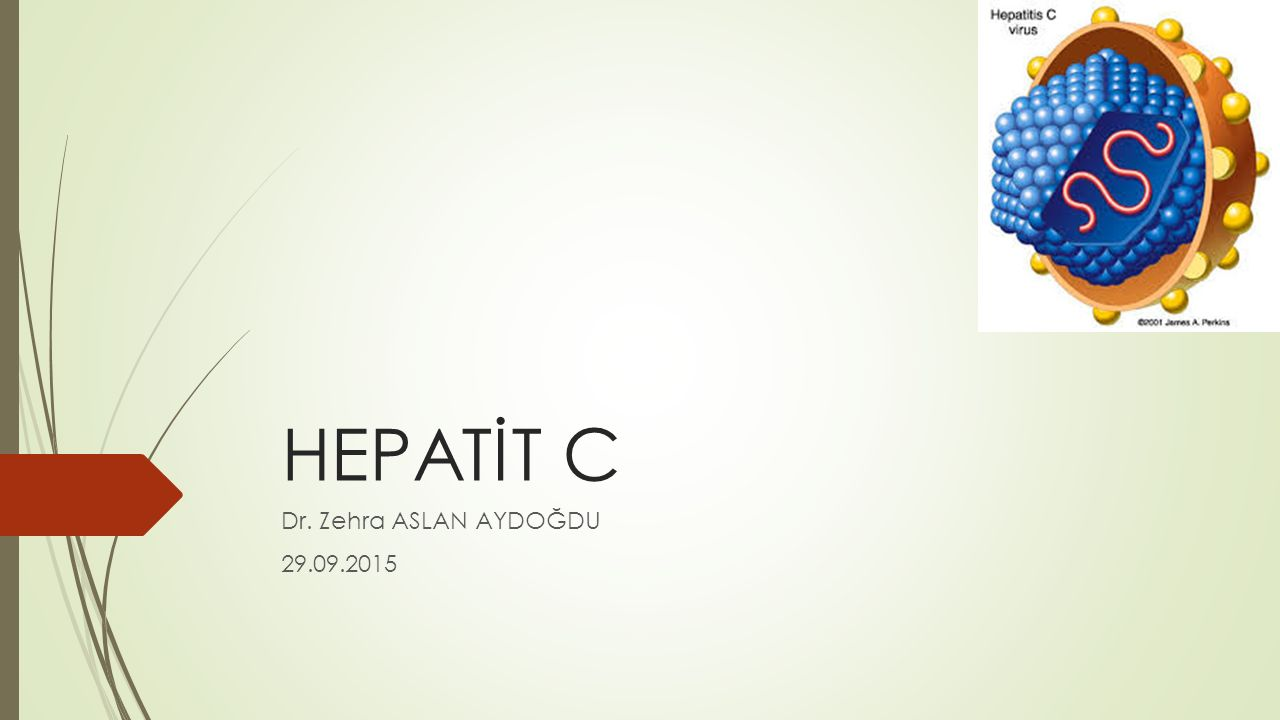 HEPATİT C Dr. Zehra ASLAN AYDOĞDU 29.09.2015