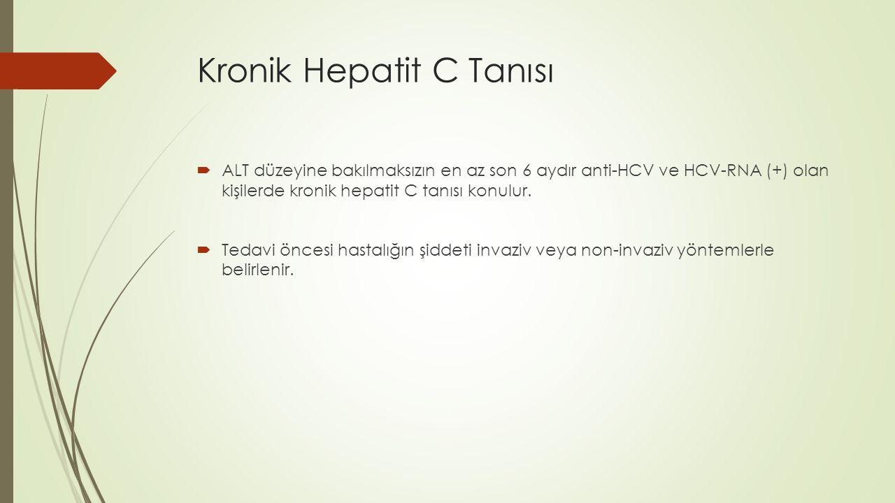 Kronik Hepatit C Tanısı