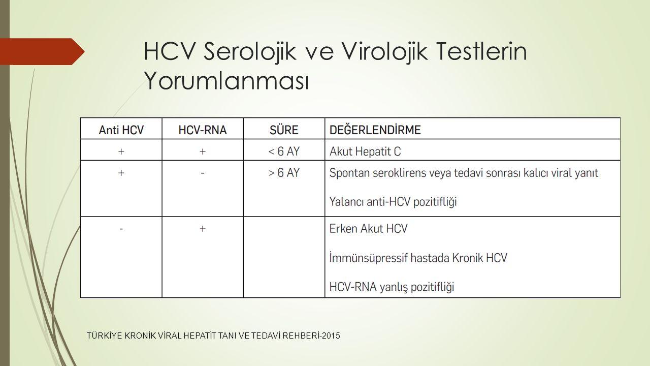 HCV Serolojik ve Virolojik Testlerin Yorumlanması
