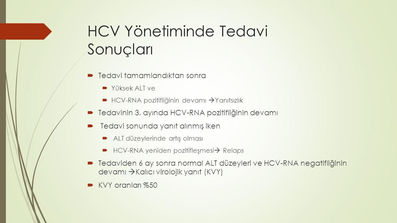 HCV Yönetiminde Tedavi Sonuçları