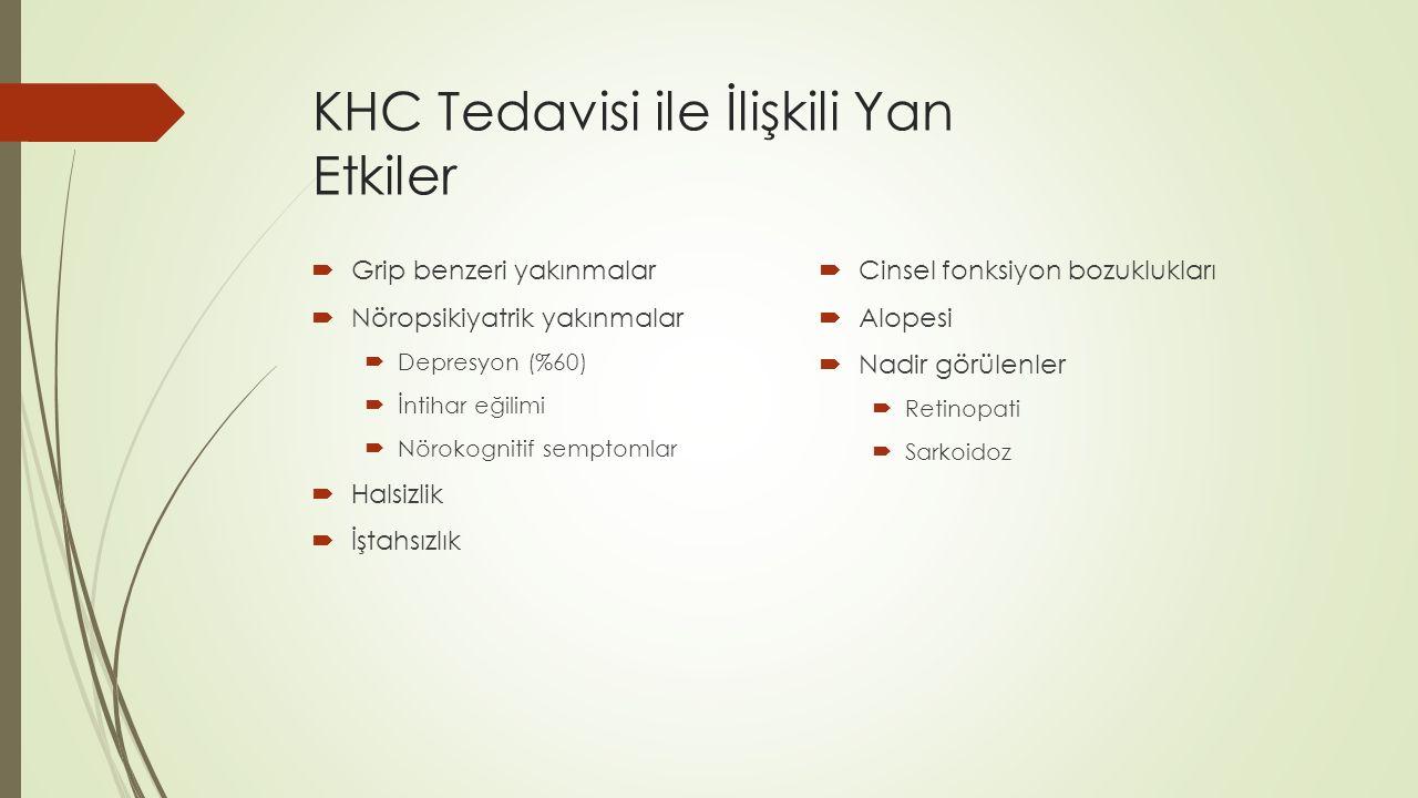 KHC Tedavisi ile İlişkili Yan Etkiler