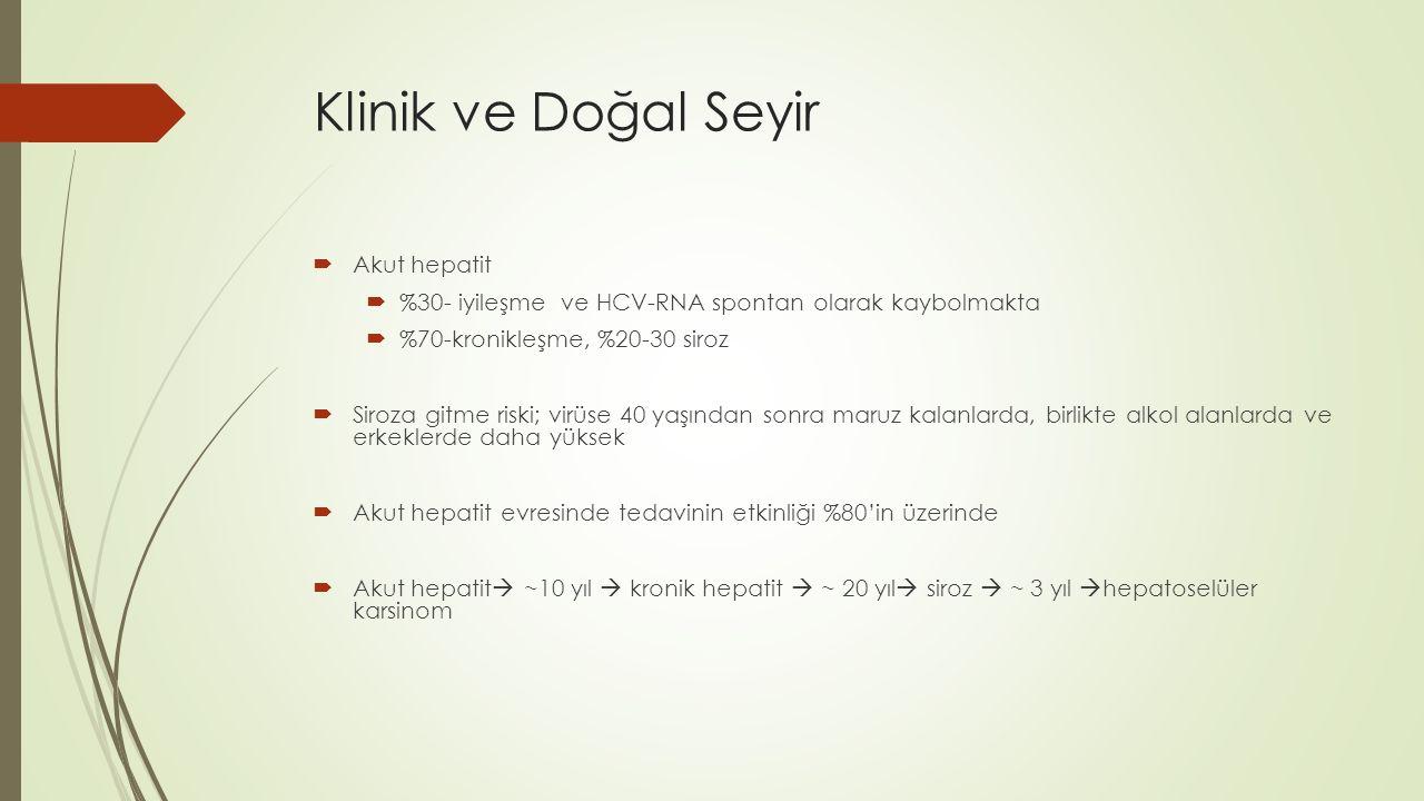 Klinik ve Doğal Seyir Akut hepatit
