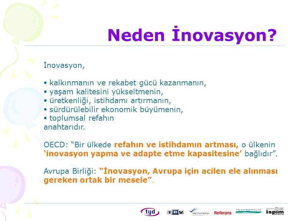 Neden İnovasyon İnovasyon, kalkınmanın ve rekabet gücü kazanmanın,