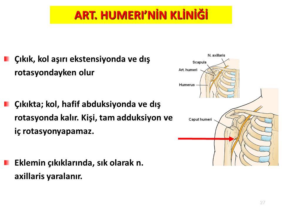 ART. HUMERI'NİN KLİNİĞİ