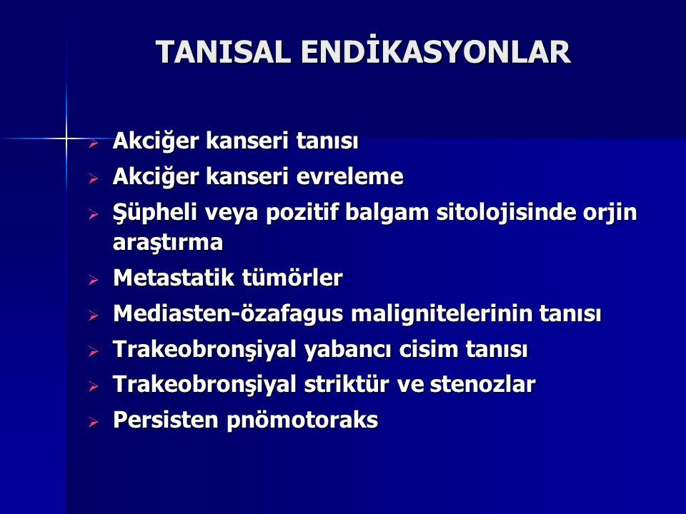 TANISAL ENDİKASYONLAR