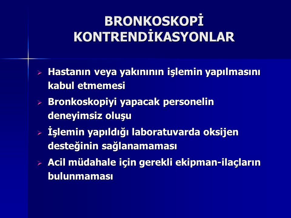BRONKOSKOPİ KONTRENDİKASYONLAR