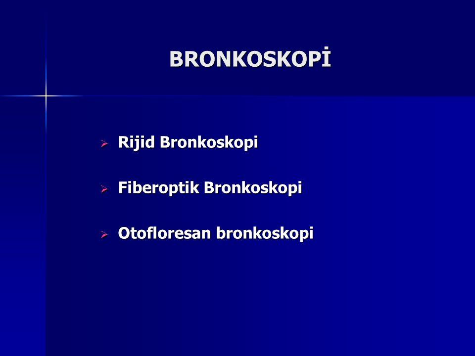 BRONKOSKOPİ Rijid Bronkoskopi Fiberoptik Bronkoskopi
