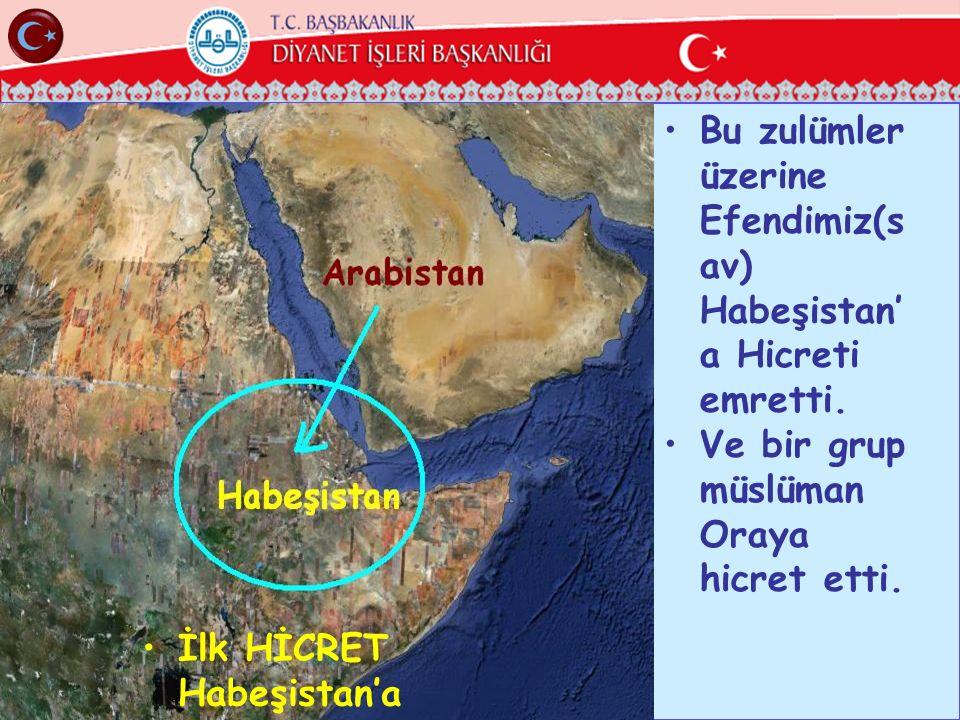 Bu zulümler üzerine Efendimiz(sav) Habeşistan'a Hicreti emretti.