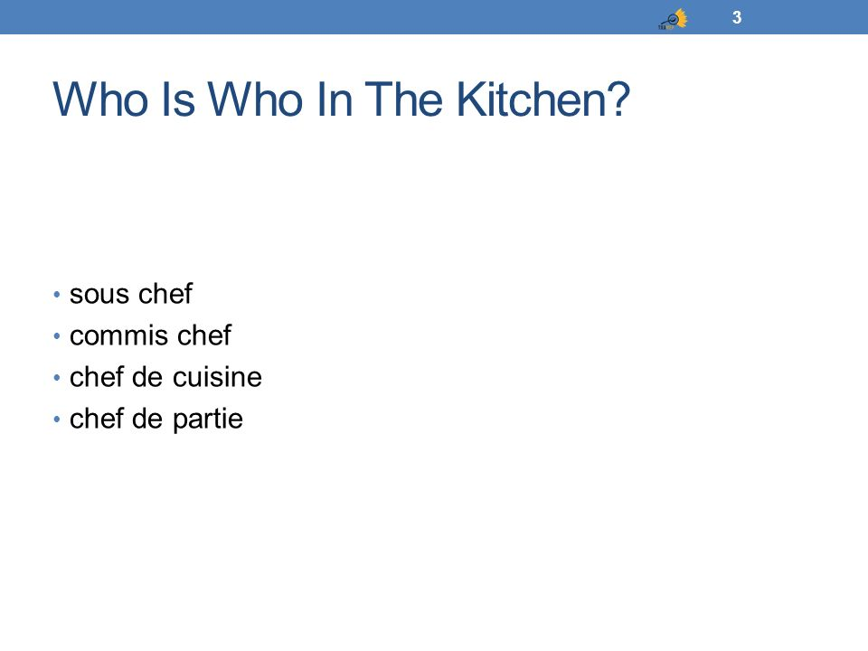 Who Is Who In The Kitchen
