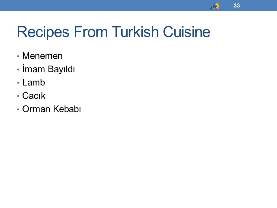 Recipes From Turkish Cuisine