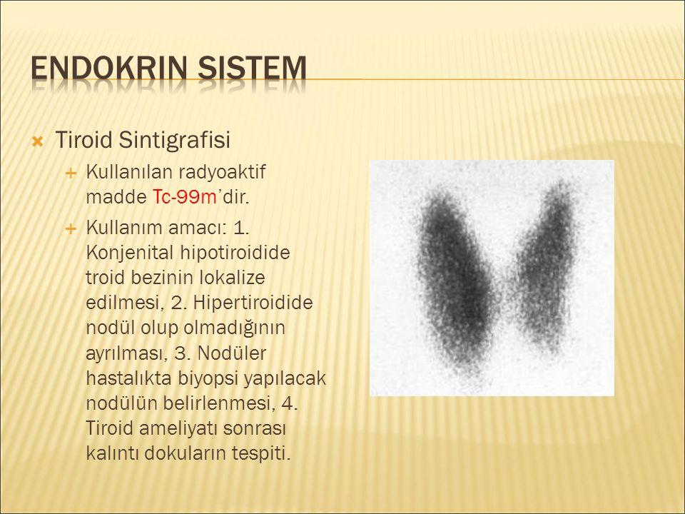 Endokrin Sistem Tiroid Sintigrafisi
