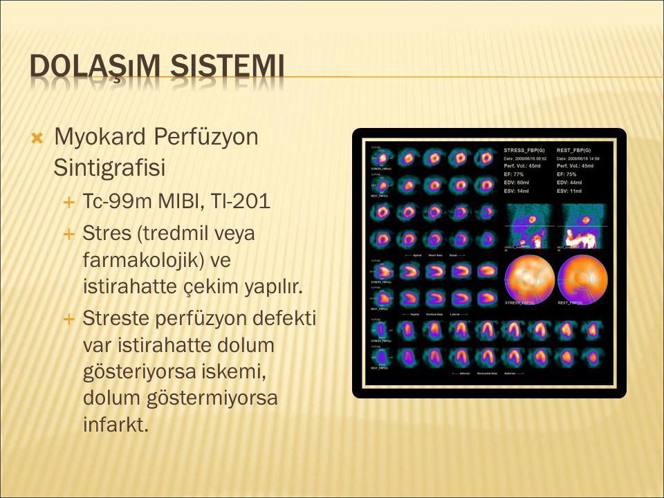Dolaşım Sistemi Myokard Perfüzyon Sintigrafisi Tc-99m MIBI, Tl-201
