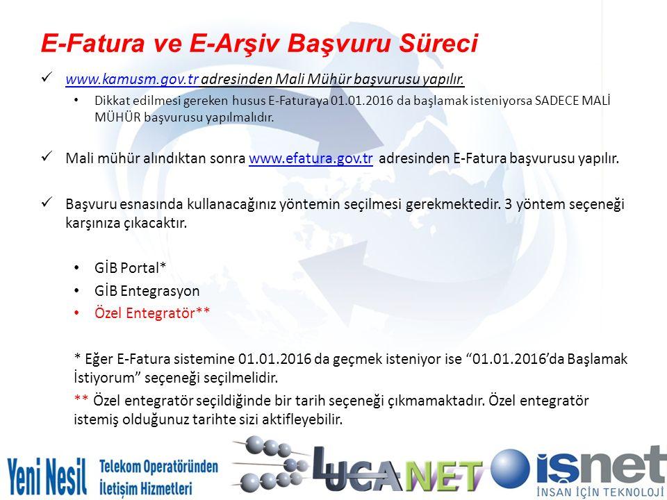E-Fatura ve E-Arşiv Başvuru Süreci