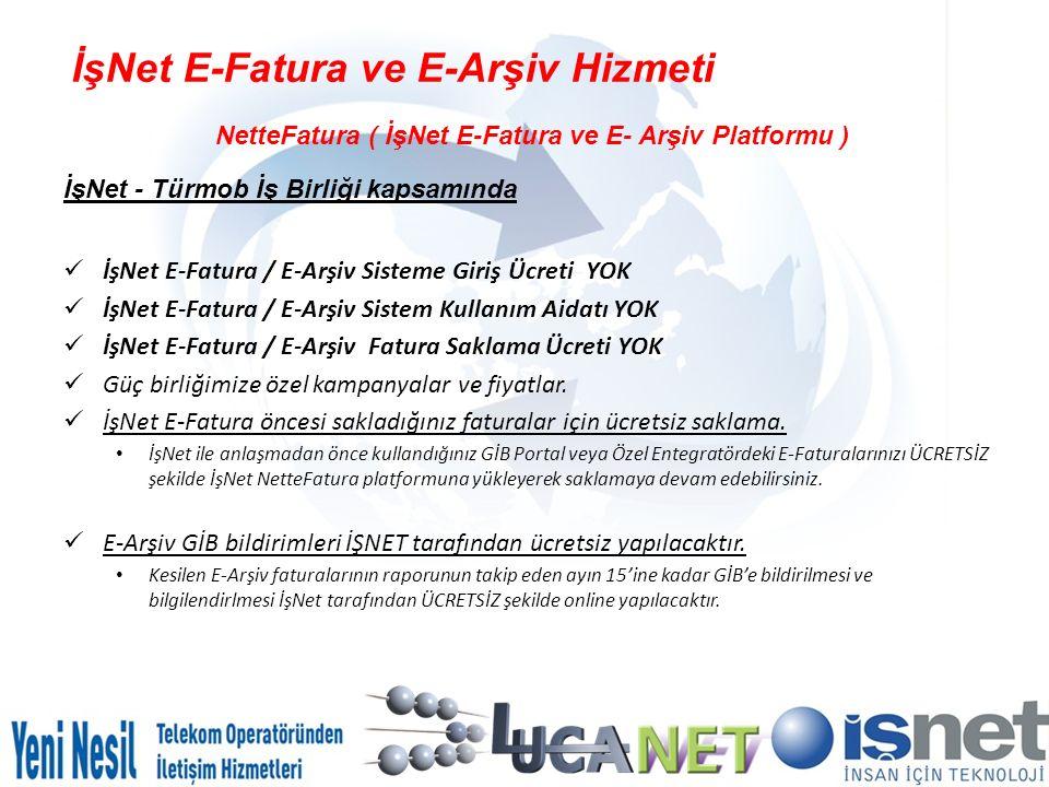 İşNet E-Fatura ve E-Arşiv Hizmeti