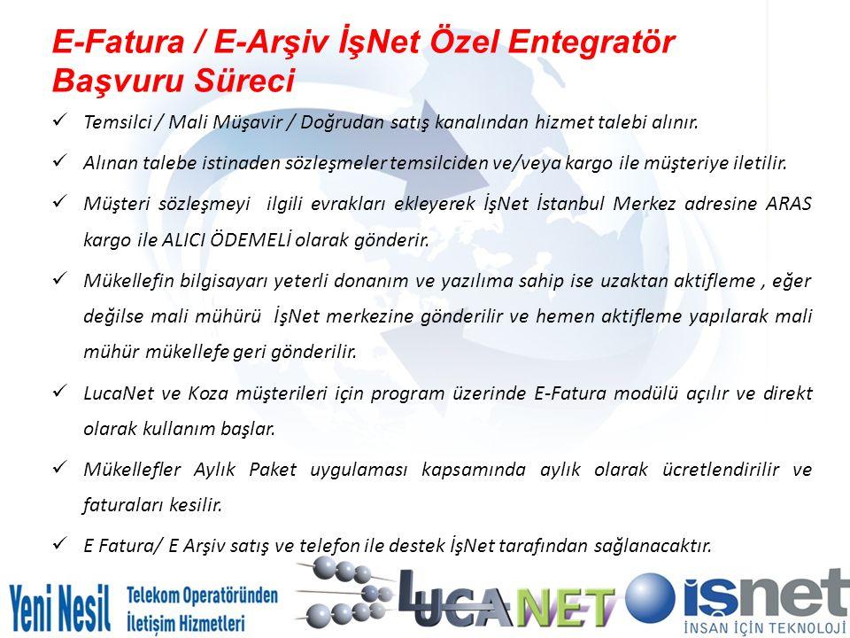 E-Fatura / E-Arşiv İşNet Özel Entegratör Başvuru Süreci
