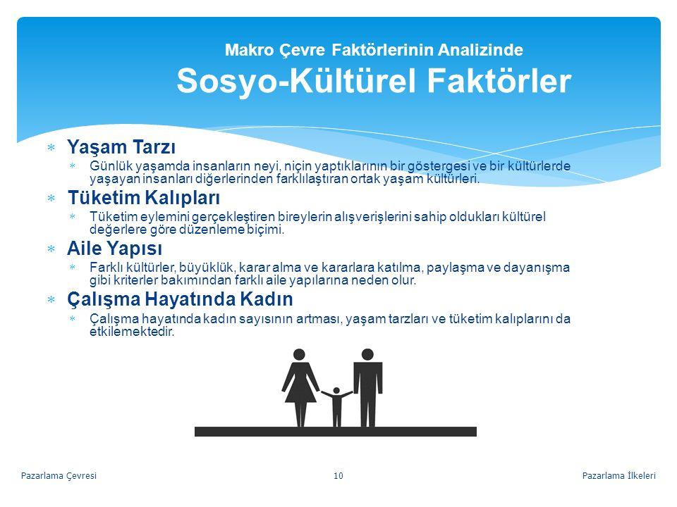Makro Çevre Faktörlerinin Analizinde Sosyo-Kültürel Faktörler