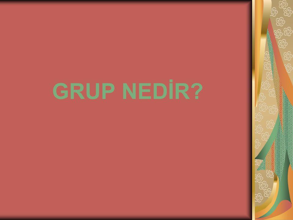 GRUP NEDİR