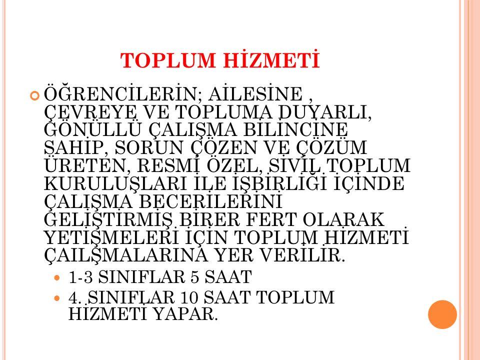 TOPLUM HİZMETİ