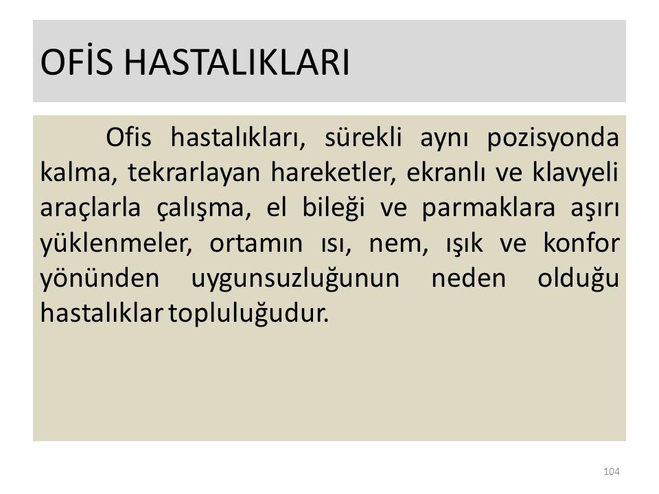 OFİS HASTALIKLARI