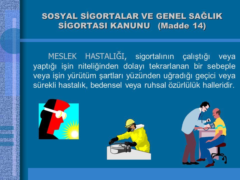 SOSYAL SİGORTALAR VE GENEL SAĞLIK SİGORTASI KANUNU (Madde 14)