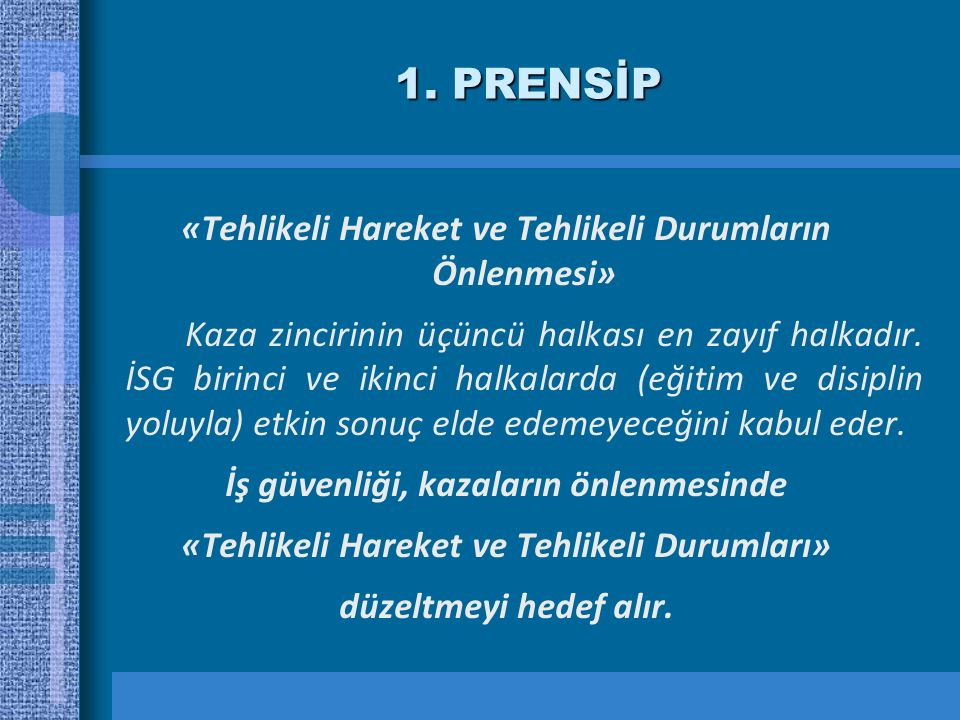 1. PRENSİP