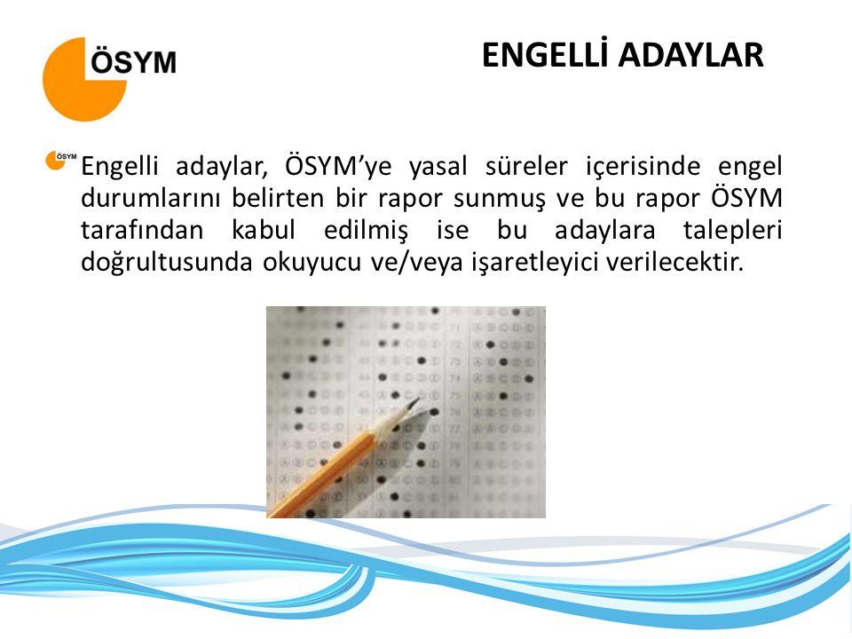 ENGELLİ ADAYLAR
