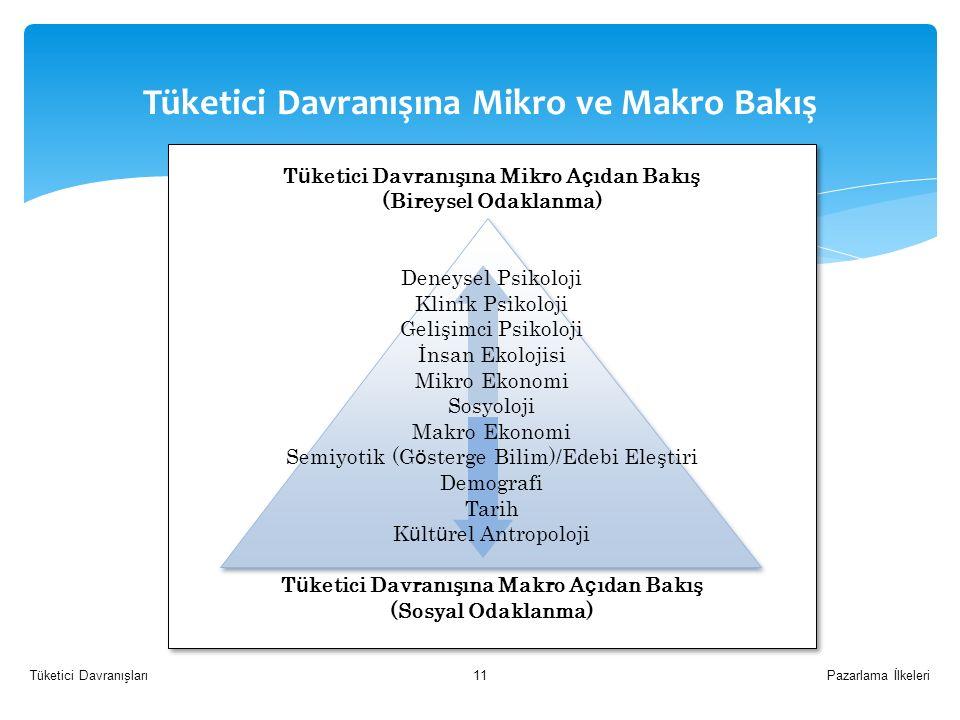 Tüketici Davranışına Mikro ve Makro Bakış