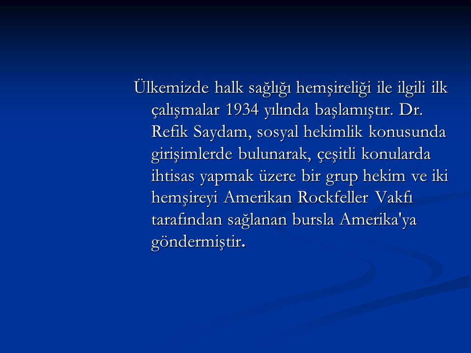 Ülkemizde halk sağlığı hemşireliği ile ilgili ilk çalışmalar 1934 yılında başlamıştır.