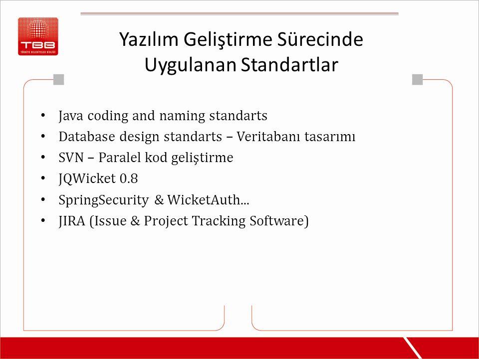 Yazılım Geliştirme Sürecinde Uygulanan Standartlar