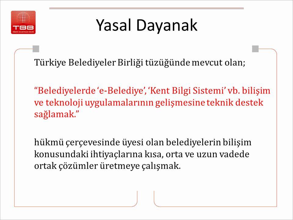 Yasal Dayanak Türkiye Belediyeler Birliği tüzüğünde mevcut olan;