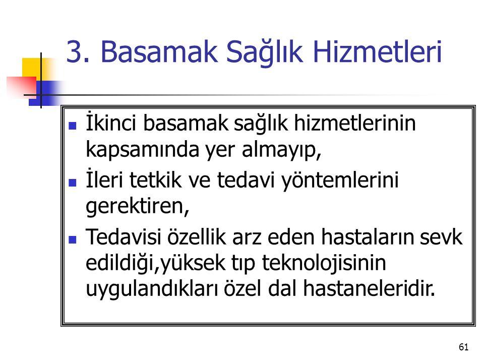 3. Basamak Sağlık Hizmetleri