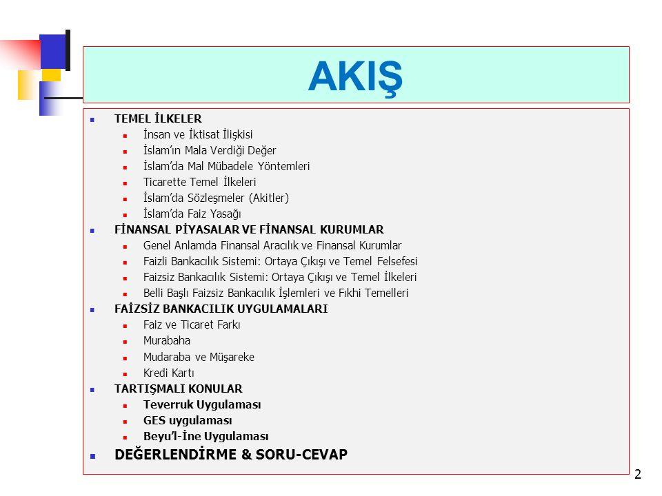AKIŞ DEĞERLENDİRME & SORU-CEVAP TEMEL İLKELER
