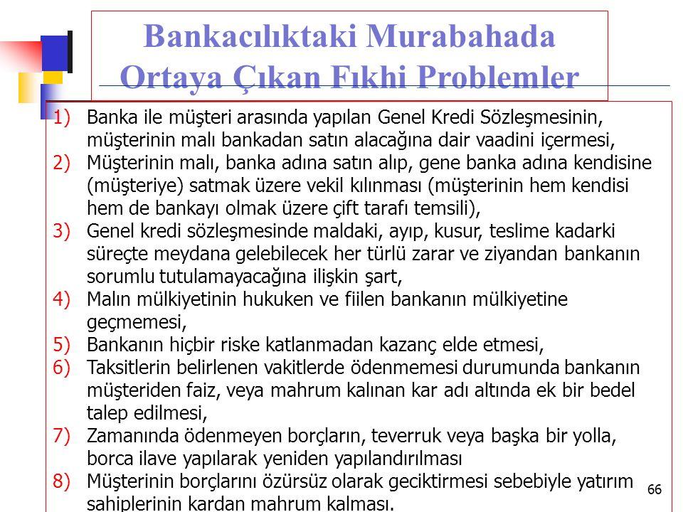 Bankacılıktaki Murabahada Ortaya Çıkan Fıkhi Problemler