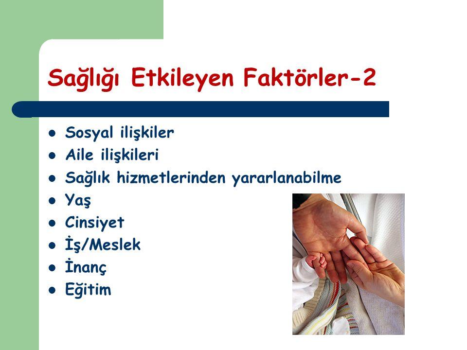 Sağlığı Etkileyen Faktörler-2