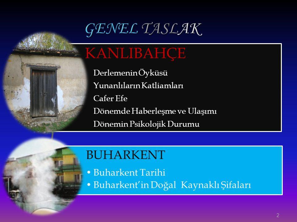 GENEL TASLAK KANLIBAHÇE BUHARKENT Buharkent Tarihi