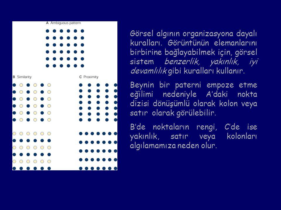 Görsel algının organizasyona dayalı kuralları