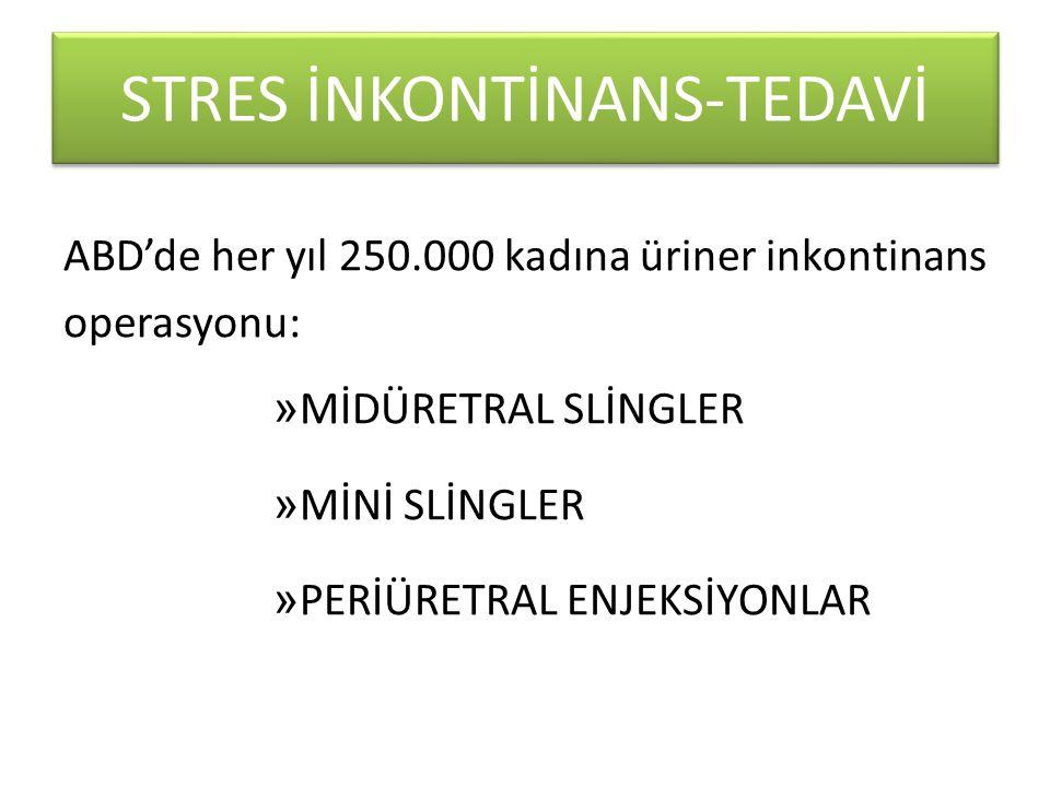 STRES İNKONTİNANS-TEDAVİ
