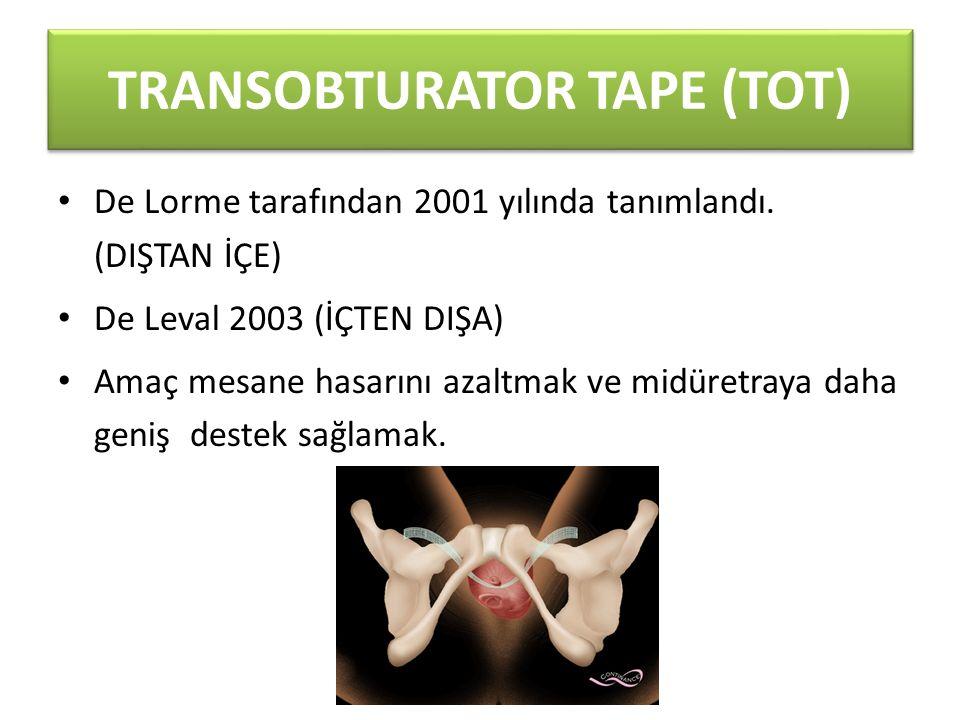 TRANSOBTURATOR TAPE (TOT)