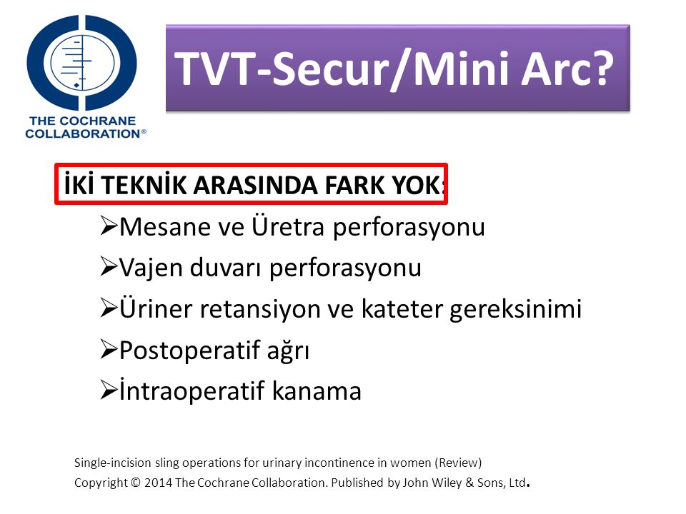 TVT-Secur/Mini Arc İKİ TEKNİK ARASINDA FARK YOK: