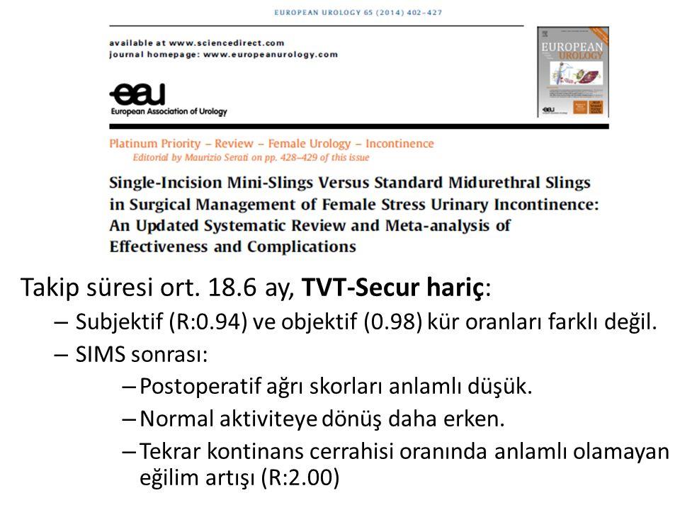 Takip süresi ort. 18.6 ay, TVT-Secur hariç: