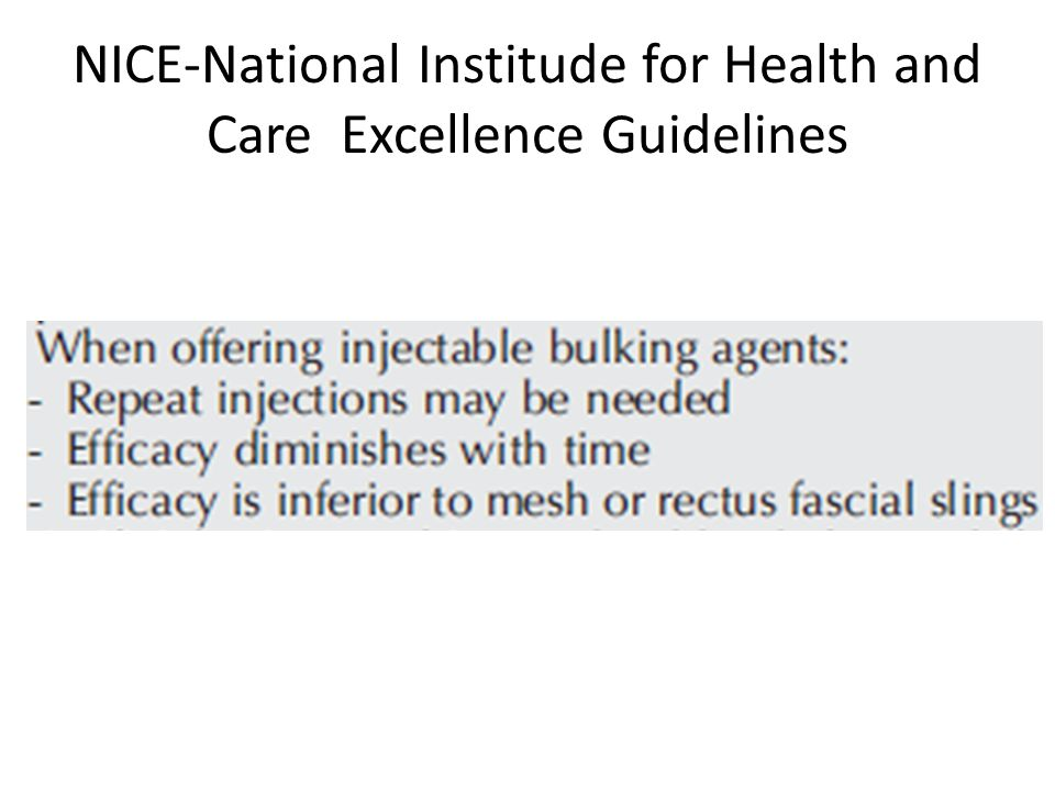 NICE-National Institude for Health and Care Excellence Guidelines