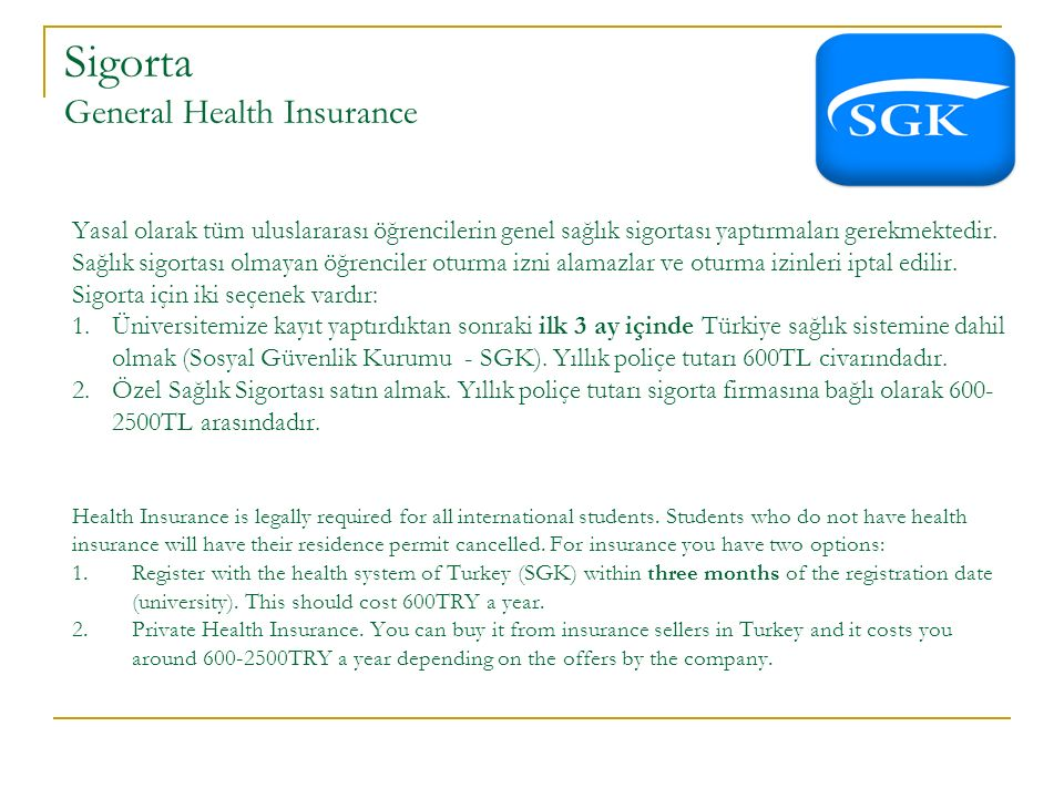 Sigorta General Health Insurance